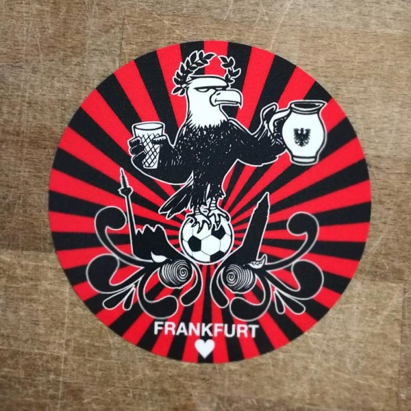Aufkleber - Frankfurt Adler schwarz rot