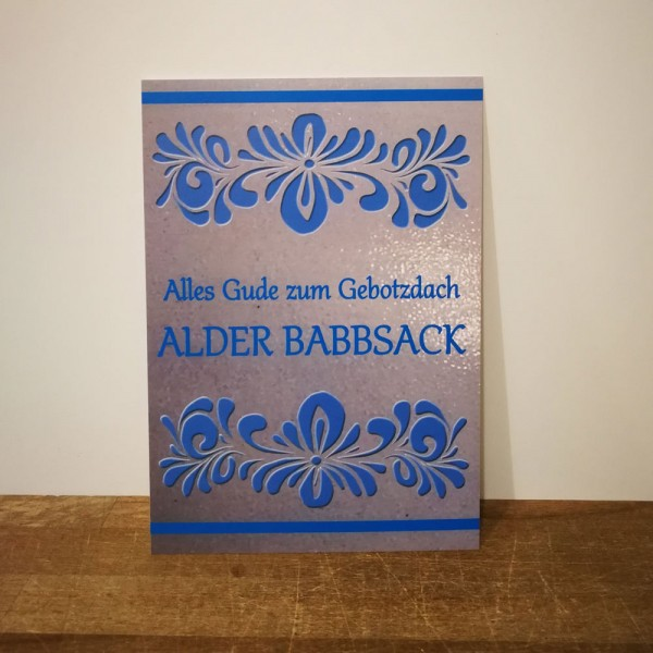 Postkarte - Gebotzdach Babbsack