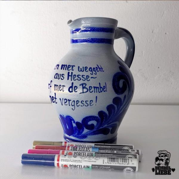 Bembel selber bemalen keramik paint ceramic geschenk