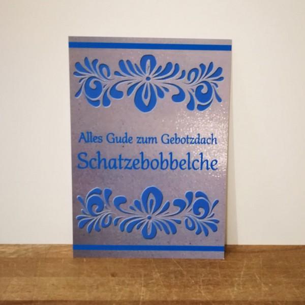 Postkarte - Schatzebobbelche